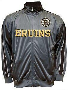 Boston Bruins NHL Mens Full Zip Tricot Track Jacket Big & Tall Sizes