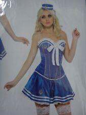 Womens Sailor Fancy Dress Costume outfit Lingerie Underwear Size L 16-18 BBIP