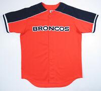 Vintage 90s Denver Broncos Majestic Baseball Sewn NFL Football Mens Jersey L