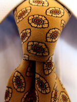 Mens Barneys New York Beige Silk Tie Made in Italy A29453