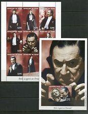 CHAD 1998 DRACULA - VAMPIRES - BELA LUGOSI - MINT SET OF 9 STAMPS AND 1 SHEET!