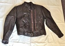 Vintage Hein Gericke Harley Davidson Motorcycle Riding Leather Jacket Size 40