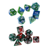 14x Polyhedral Dice for Dungeons and Dragons RPG D20 D12 D10 D8 D6 D4 Set