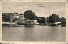 Postcard Pk Ak Vintage Used Neuruppin Strandgarten Army Postal Service 1918 Sw