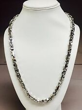14k Solid White Gold Anchor Mariner Bullet Link Chain   8.5 MM 150 grams  23""