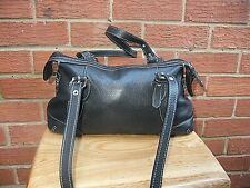 Tignanello Small Black Leather Tote Shoulder Handbag