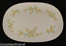 "12"" Floral Yellow  144 platter Tray RectangleTexas Ware vintage melmac melamine"