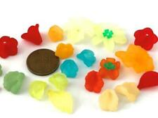 Vintage & Old Stock Frosted Plastic Lucite Flower Beads Mix 24