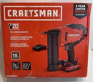 CRAFTSMAN (CMCN618C1) V20 20V MAX, 1.5 Ah 2 inch 18-Gauge Cordless Brad Nailer