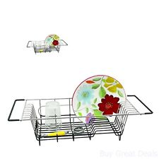 Dish Drainer Rack Over Sink Holder Drying Kitchen Organizer Stainless Steel