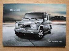MERCEDES G Series orig 2010 UK Mkt prestige brochure - with AMG G55
