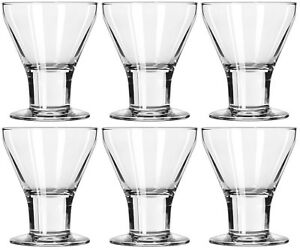 Libbey Catalina Wine Glasses. Wine Goblets Ice Cream Sundae Dishes SET OF 6