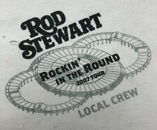 Mens XL 2007 Rod Stewart Rockin' In The Round Local Crew Concert Tour T-Shirt