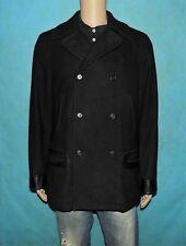 fe8364e43e68cc manteau caban RALPH LAUREN en laine et cuir noir taille L tres bon etat