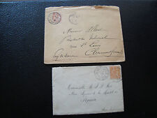 FRANCE - 2 enveloppes 1901 (cy76) french
