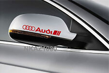 AUDI Vinyl Decal sticker Sport Racing mirror emblem RED