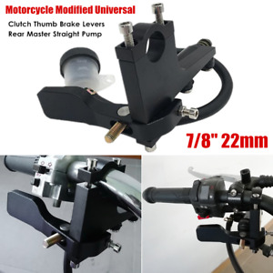 22mm Clutch Thumb Brake Levers Rear Master Straight Pump Cylinder Handle Kit Set