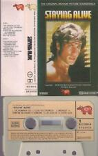 BEE GEES Staying alive JOHN TRAVOLTA  RARE SPANISH CASSETTE PAPER LABEL SPAIN