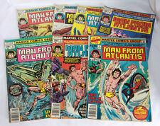 Man From Atlantis Comic Books Marvel 1, 2, 3, 4, 5, 6, 7 (1977)