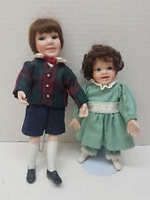 1995 Ashton Drake Under Her Wings Collection Miniature Pat Bomer Dolls Set of 2