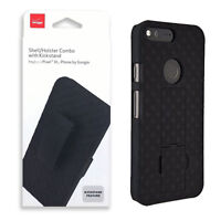 Verizon Durable Rotating Belt Clip Holster W/ Kick Stand Combo Case for Pixel XL