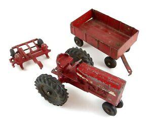 Vtg Diecast 1:32 International Farm Tractor 656 Ertl Wagon Corn Planter #9826