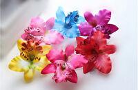 Bridal Wedding Orchid Flower Hair Clip Barrette Women Girls Accessories Fad LJ