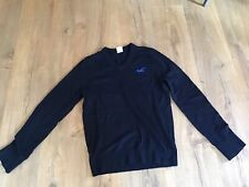 Hollister - Navy V Neck Mens Icon Jumper/Sweater - Size Small