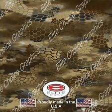 "Hex Desert CAMO DECAL 3M WRAP VINYL 52""x15"" TRUCK PRINT REAL CAMOUFLAGE"