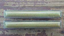 Vtg Bicentennial Cabinet Drawer Pull Handle MCM Green Speck Chrome Trim Lot of 2