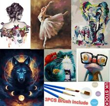 Paint By Numbers Canvas Kit Oil Painting Kits Elephant for Adult Child DIY XMAS
