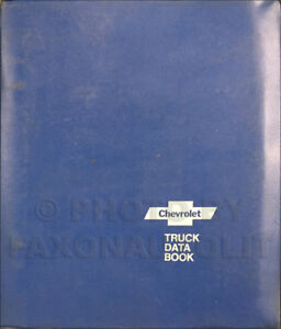 1975 Chevy Truck Data Book for all Chevrolet Trucks Options and Specifications