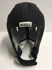 Rocksolid Flag Football Black Helmet - Size Youth Small S - Soft Padded Clean
