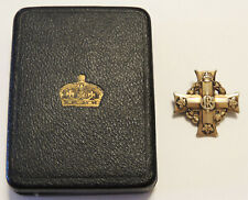 WW1 CEF Canadian Expeditionary Force Officers Memorial Cross Medal original case