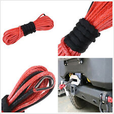 Practical Red Synthetic Fiber Automobile Tow Recovery Wire Winch Rope Cable Tool