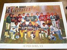 Bernie Fuchs - NFL Super Bowl XX Anniversary SILKSCREEN SIGNED LARRY CSONKA JSA