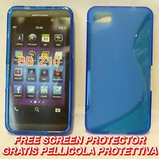Pellicola+Custodia cover case WAVE BLU per BlackBerry Z10