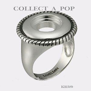 Authentic Kameleon Sterling Silver Rope Edge Ring Size 7 KR003#7  RETIRED