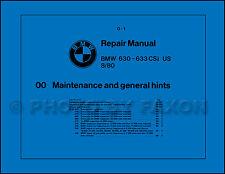BMW 630CSi 633CSi Shop Manual 1982 1981 1980 1979 1978 1977 630 633 CSi Repair