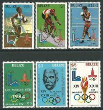 Belize 1981 - Sports History of Olympics Games Emblems - Sc 555/60 MNH