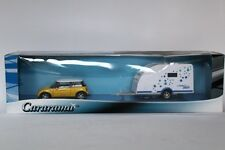 MINI COOPER WITH POLAR  CARAVAN CARARAMA 004839 1:43