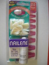 NAILENE # 77073E SCULPTUREADY SALON ACTIVE SQUARE NAILS 10 KITS! Without Glue