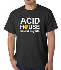 Acid House Saved My Life t-shirt - RAVE HACIENDA STONE ROSES MANCHESTER FACTORY