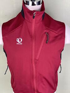 Pearl Izumi Vest Medium Cycling Fleece Lined Black Red Polyester Full Zip