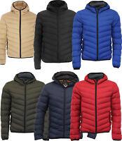 Mens Bubble Jacket Warm Winter Puffa Thick Padded Bomber Hood Puffer Zip Up Coat