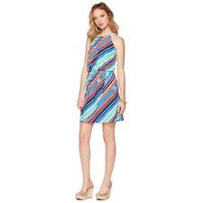 Women's Lilly Pulitzer Kennett Multi Stripe Overboard Halter Chain Dress S $228