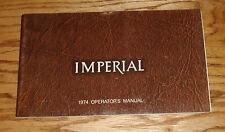 Original 1974 Chrysler Imperial Owners Operators Manual 74