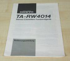Onkyo TA-RW4014 Bedienungsanleitung Deutsch