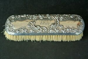 "Antique Gorham Sterling Silver Victorian Repousse 6.5"" Clothes Brush"