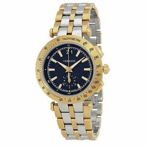Versace VAH020016 Men's V-RACE Two-Tone Quartz Watch